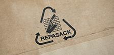 Aufbereitung von Kraftpapiersäcken durch das REPASACK-System