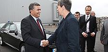 Bundesumweltministerin Hendricks und Israels Umweltminister Peretz zu Besuch bei ALBA
