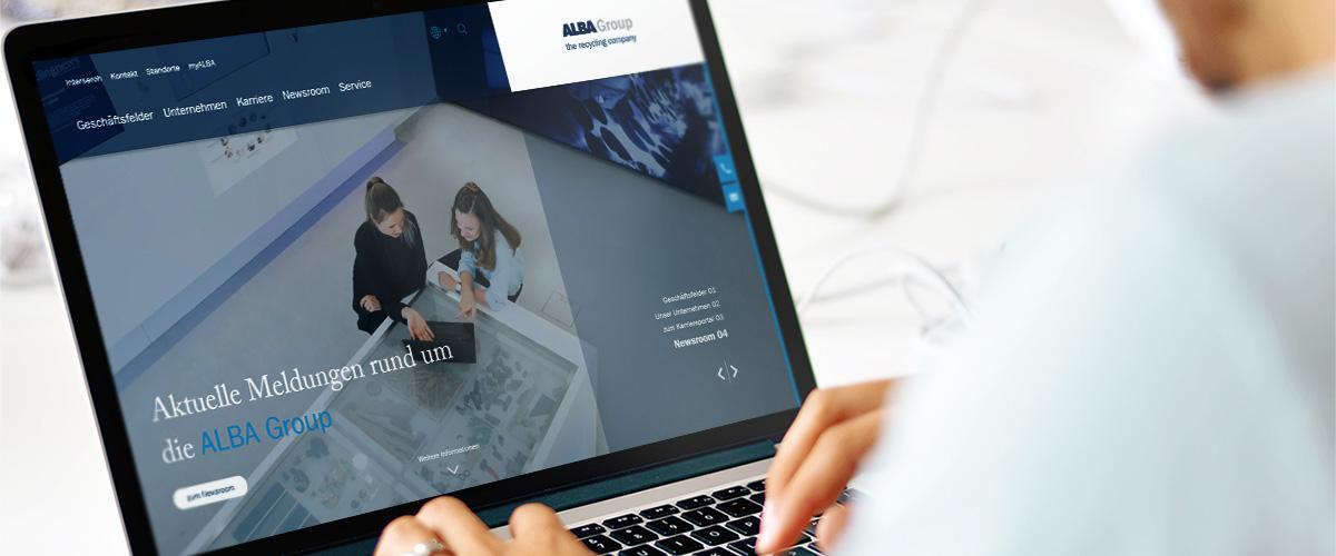 ALBA Group mit neuem Internet-Auftritt – Modern und übersichtlich: Webseite der ALBA Group jetzt noch kompakter im Netz