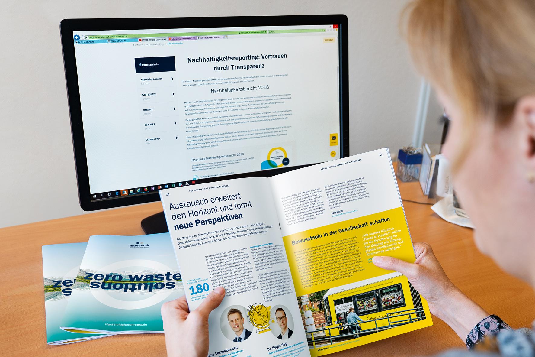 Interseroh legt aktuelle Berichterstattung zum Nachhaltigkeitsengagement vor
