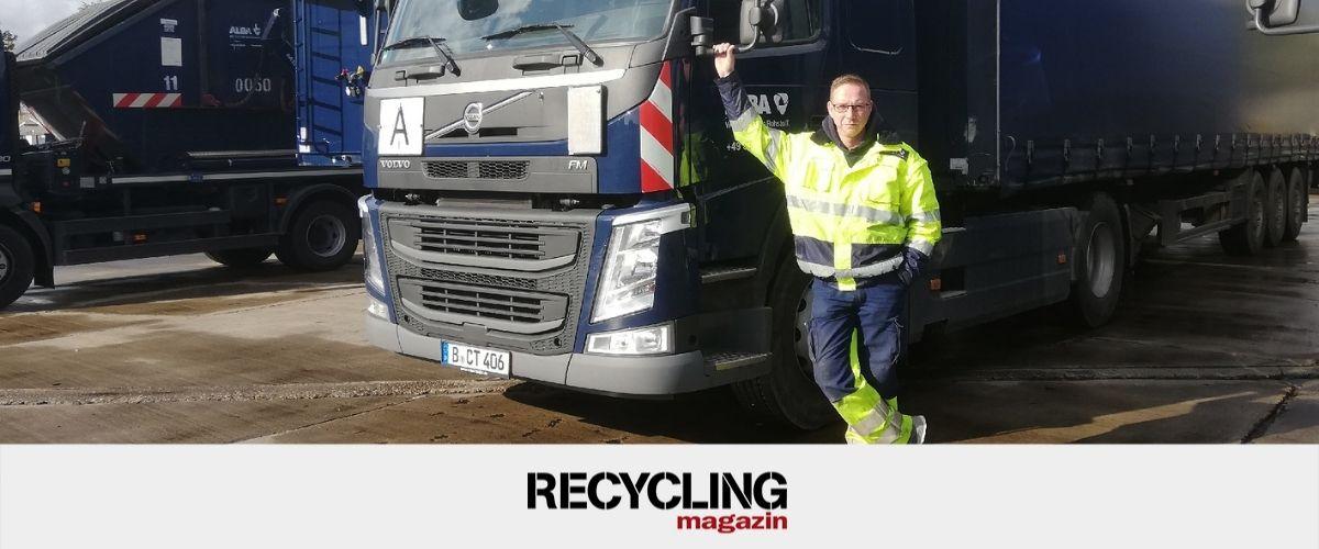 Berufe in der Abfallwirtschaft – Berufskraftfahrer bei ALBA: Mit dem 40-Tonner durch Berlin