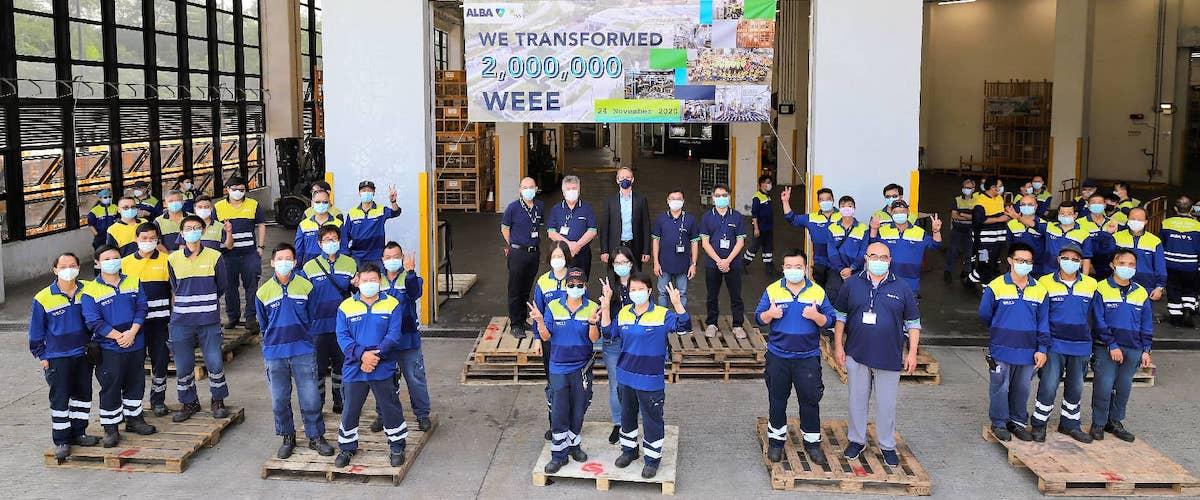 Rekord nach etwas mehr als zwei Jahren Betrieb – ALBA Group feiert 2 Mio. recycelte Elektrogeräte in Hongkonger WEEE-Anlage