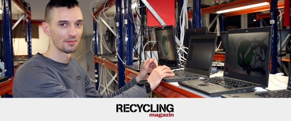 """Berufe in der Abfallwirtschaft – Ausrangierte IT-Geräte: """"Zum Wegwerfen viel zu schade!"""""""